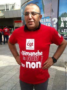 Amar Lagha, secrétaire général de la fédération CGT du commerce et des services
