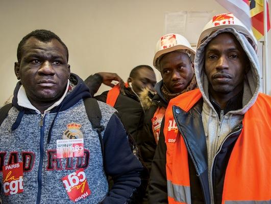 115 travailleurs sans papiers en lutte pour leurs droits