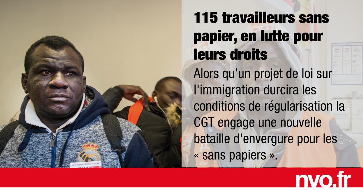 115 Travailleurs Sans Papiers En Lutte Pour Leurs Droits Nvo