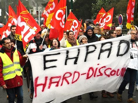Salariés, directions et usagers « déterminés à obtenir satisfaction » pour les EHPAD