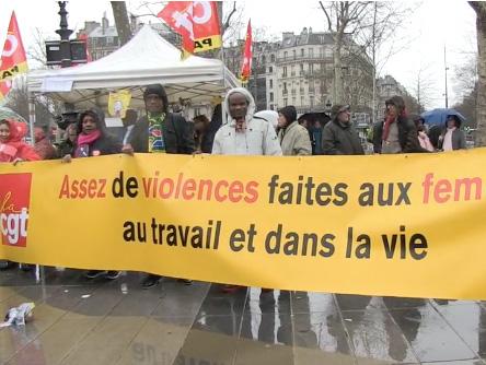 Manifestation pour le 8 mars à Paris