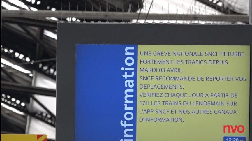 4e jour de grève chez lez cheminots de Paris Sud Est