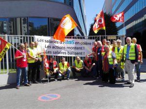 Mobilisation pour les salaires chez Atos-France
