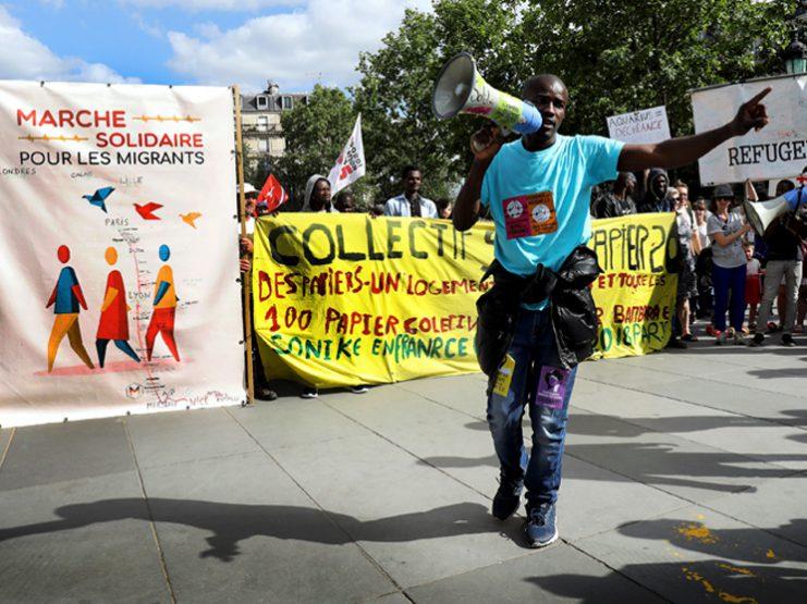 Marche solidaire des migrants