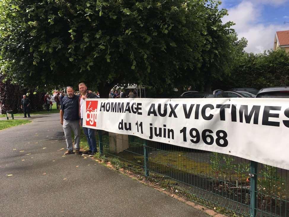 Hommage aux victimes de la répression du 11 juin 68 à Peugeot Sochaux