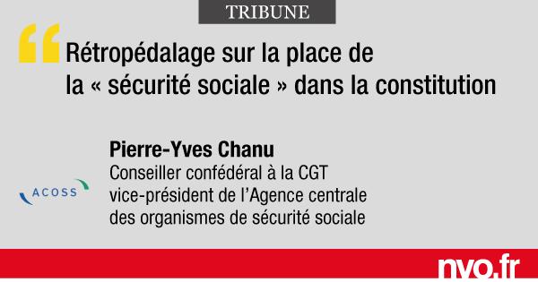 298f30705d5 Rétropédalage sur la place de la « sécurité sociale » dans la constitution  – nvo