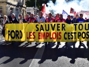 Manifestation à Bordeaux pour l'avenir de la filière automobile