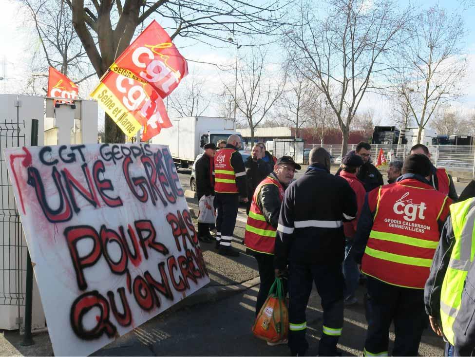 Grève dure pour les salaires et les conditions de travail à Geodis Calberson Gennevilliers