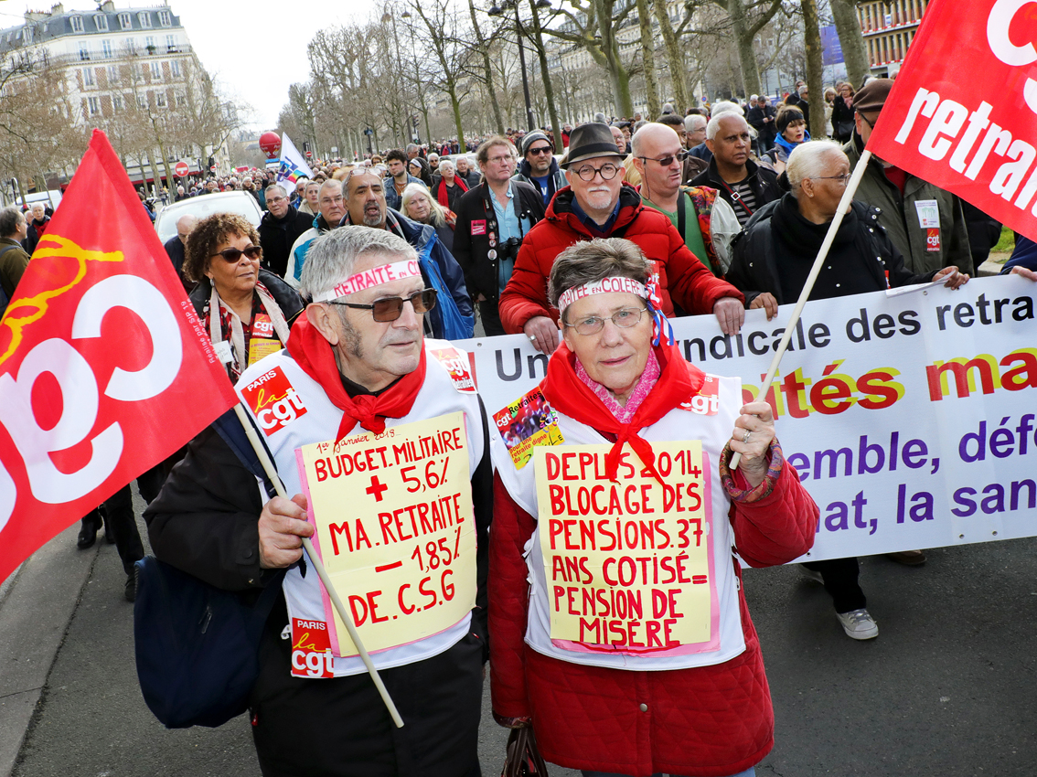 Neuf organisations appellent à un «printemps des retraités» le 11 avril