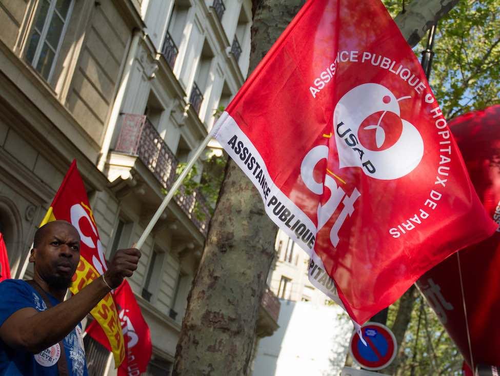 L'intersyndicale de l'AP-HP mobilisait pour dénoncer la situation des hôpitaux parisiens