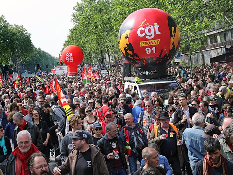Début de manifestation du 1er mai empêché à Paris