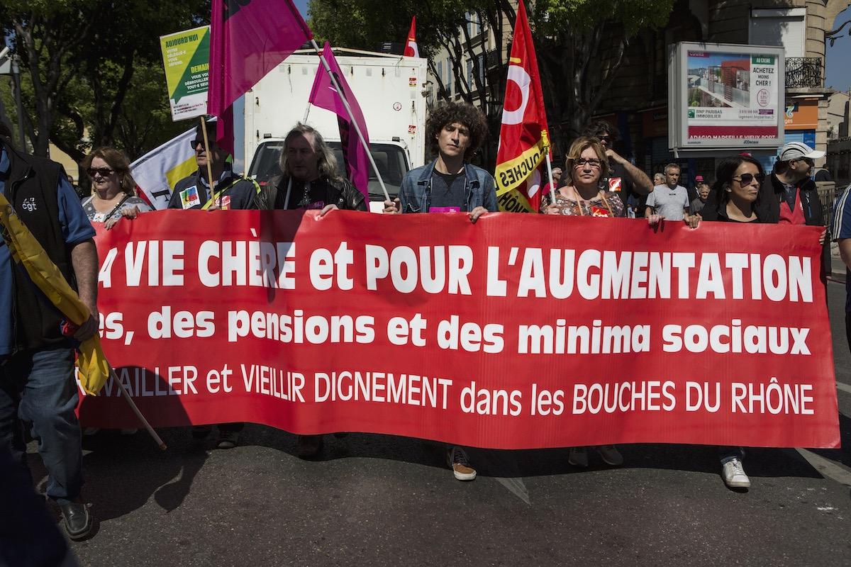 À Marseille, le défilé s'est aussi déroulé calmement, avec la présence de la FSU, de Solidaires, de FO et des syndicats de lycéens et étudiants.Colas Isnard