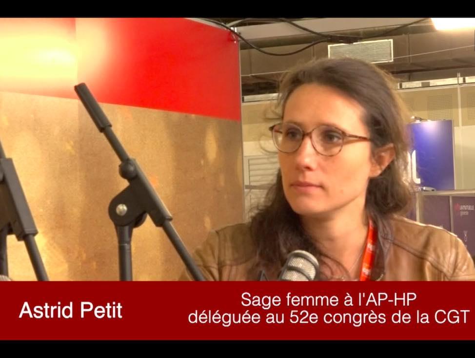 Astrid Petit, déléguée au 52e Congrès CGT pour la Fédération de la Santé et de l'Action sociale
