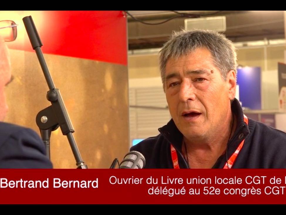 Bertrand Bernard, de la CGT du Livre, évoque les camarades mutilés lors des manifestations avec les Gilets jaunes