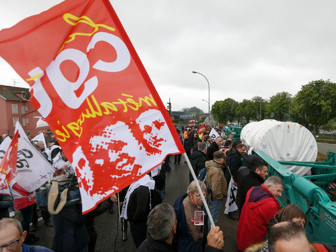 Les syndicats de GE Belfort se mobilisent pour l'avenir des turbines à gaz