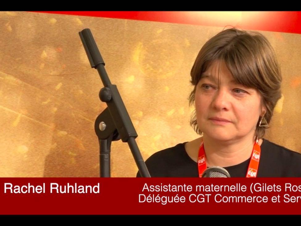 Rachel Ruhland : une Gilet rose au 52e congrès de la CGT