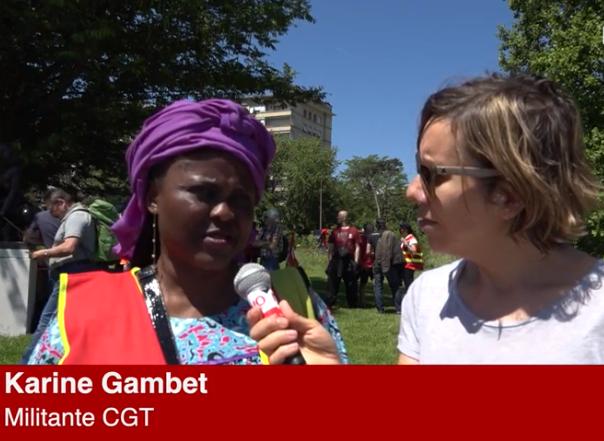 Karine Gambet, militante CGT, se bat pour les droits des travailleurs en France et au Cameroun