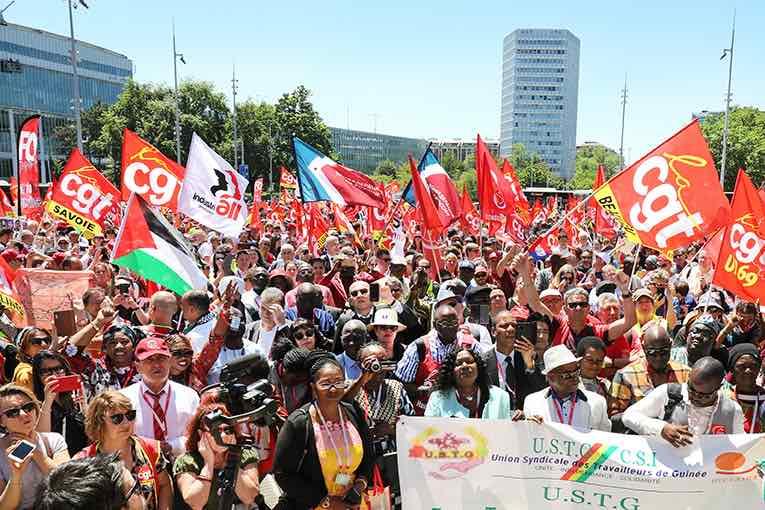 Manifestation internationale à Genève pour le centenaire de l'OIT