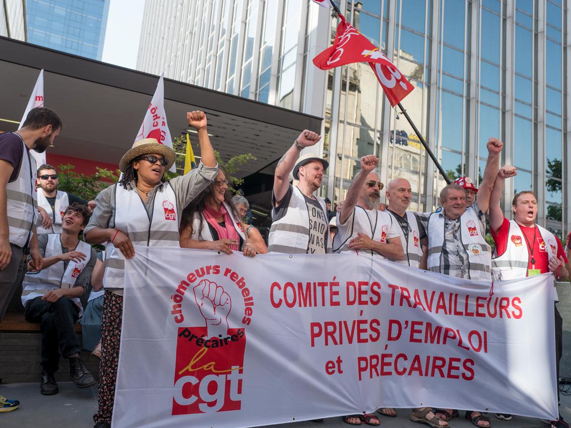 La CGT mobilisée devant l'Unédic pour exiger une forte revalorisation des allocations chômage