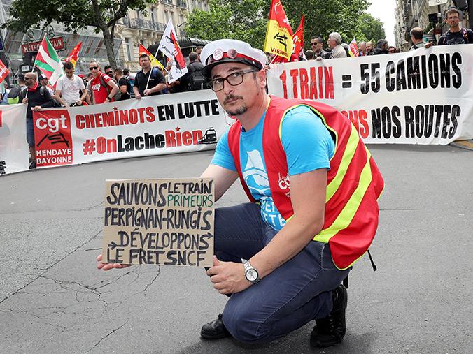 La CGT mobilisée pour sauver le train Perpignan-Rungis