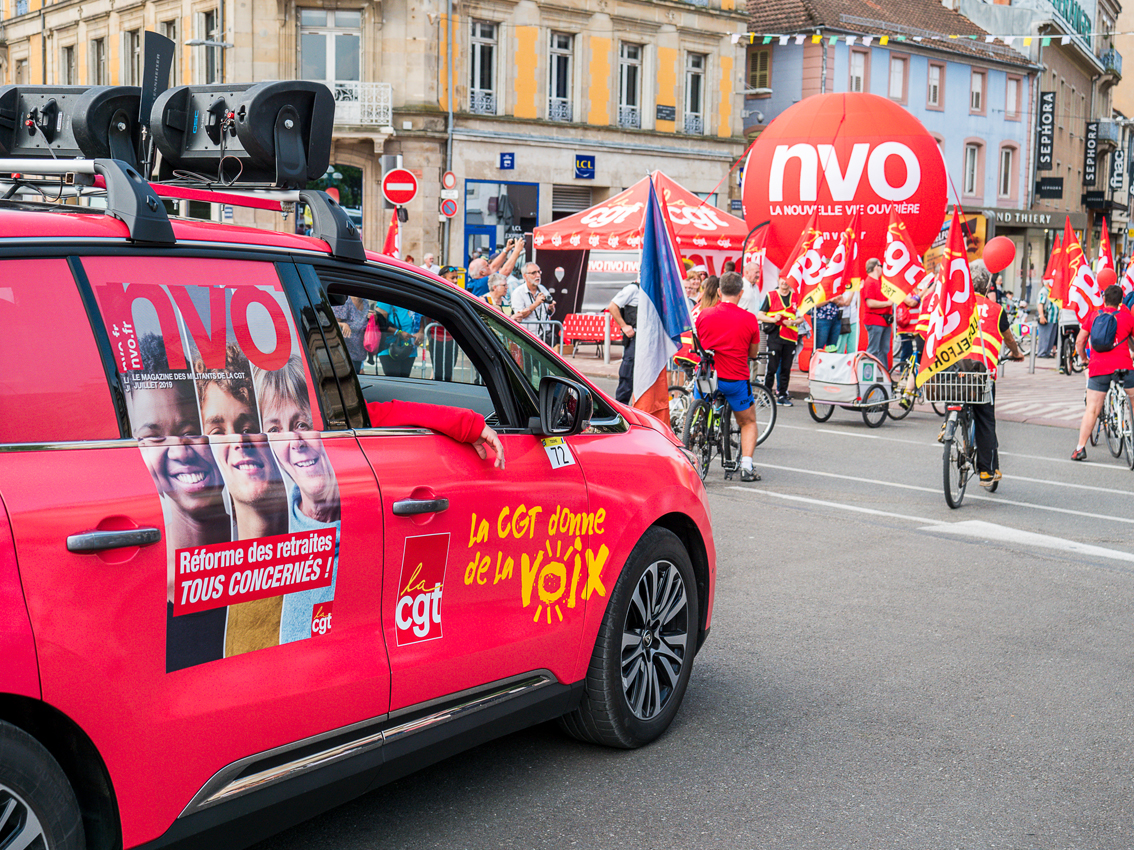 La CGT et son journal sur le Tour de France