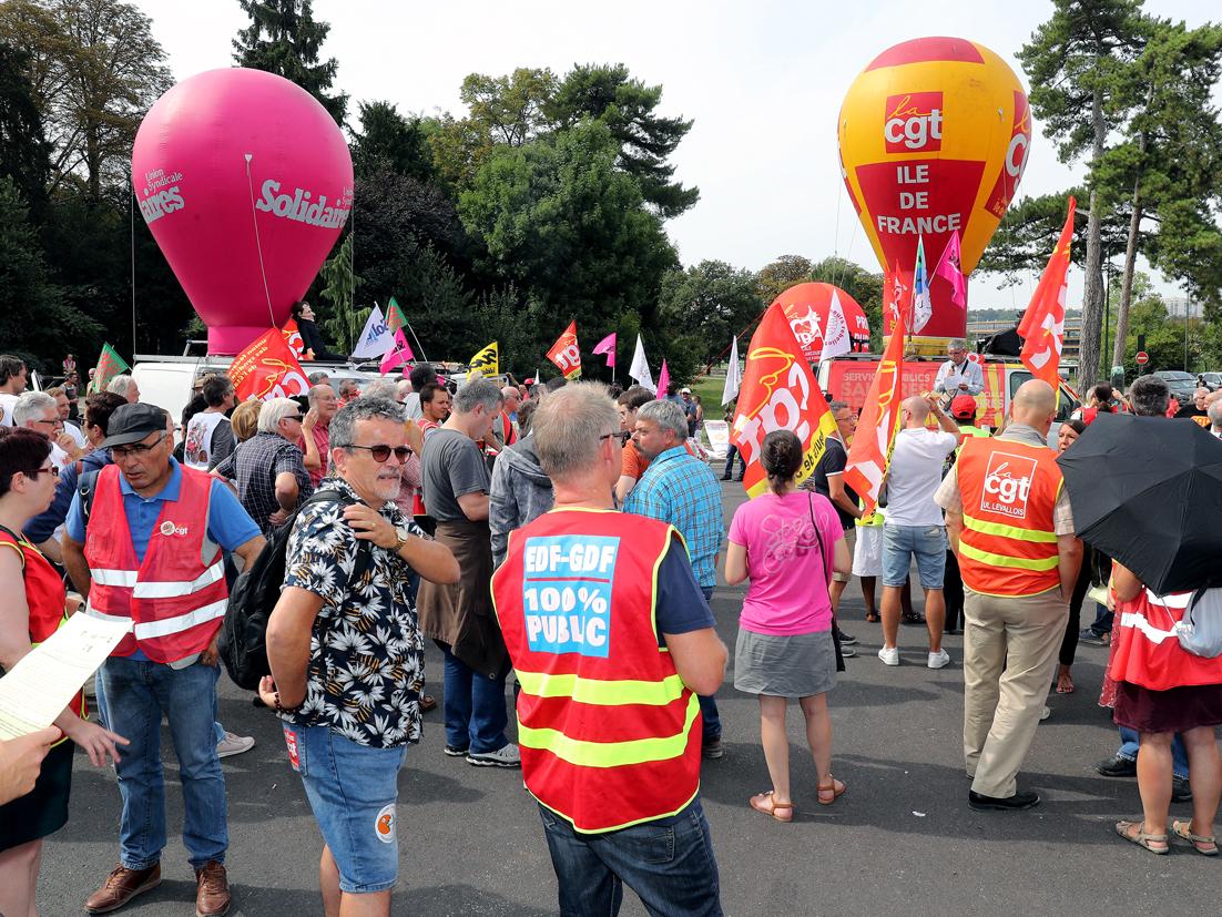 Universités d'été du Medef : la CGT manifeste pour faire entendre la voix des salariés