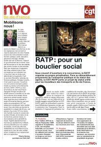Urif 3581 - RATP : pour un bouclier social